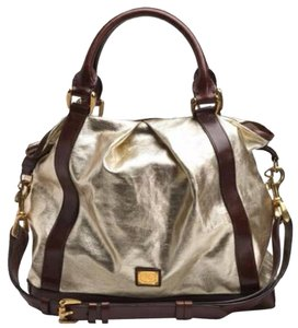 Burberry #burberry Leather #crossbody Tote in Gold and Brown