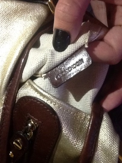 Burberry Leather #crossbody Tote in Gold and Brown