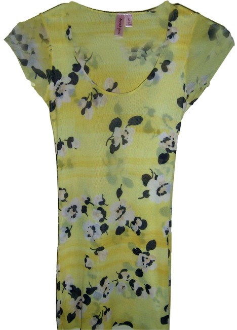 Preload https://item2.tradesy.com/images/sweet-pea-by-stacy-frati-tunic-yellow-black-cream-3761506-0-0.jpg?width=400&height=650