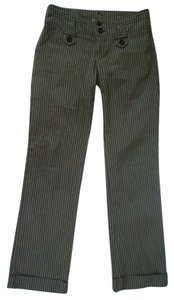 Anthropologie Ett Twa Checkered Cotton Straight Pants