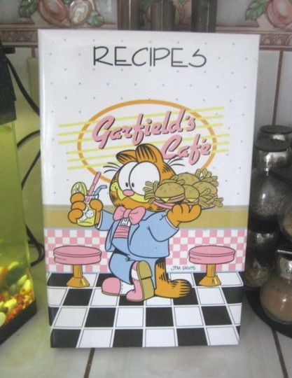 Jim Davis 90's GARFIELD Recipe Card Ringbound Album, Refillable