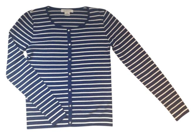 Preload https://item2.tradesy.com/images/liz-claiborne-cardigan-royal-blue-with-white-stripes-3761746-0-0.jpg?width=400&height=650