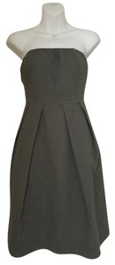 J.Crew short dress Gray Strapless on Tradesy