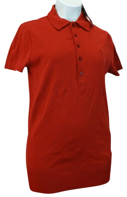 Item - Red Black Label Pony Polo Sleeve Buttons Tee Shirt Size 8 (M)