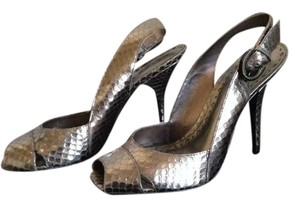 BCBGirls Pewter New MET SNAKE Pumps