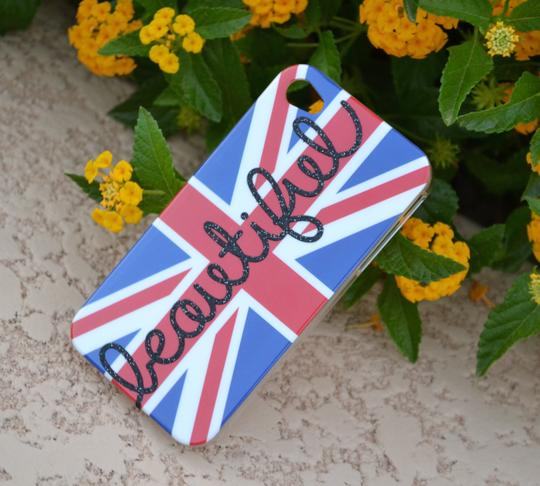 Other iPhone Case 4 4s British Flag BEAUTIFUL Glitter cell phone cover