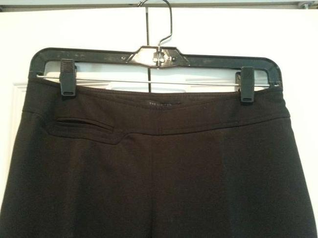 The Limited Basic Side Zip Straight Pants black
