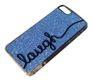 Brand New iPhone Case 5 5s LAUGH Light Blue Glitter cell phone cover