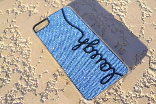 Other Brand New iPhone Case 5 5s LAUGH Light Blue Glitter cell phone cover