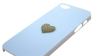 Brand New iPhone Case 5 5s Simple Gold Glitter Heart cell phone cover