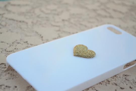 Other Brand New iPhone Case 5 5s Simple Gold Glitter Heart cell phone cover