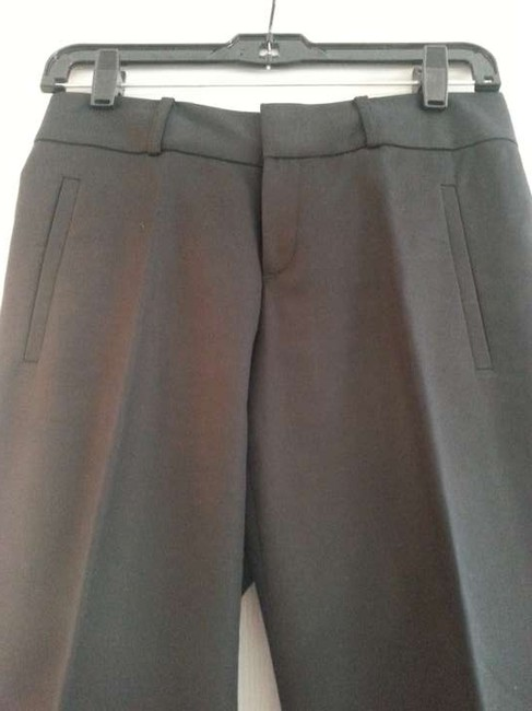 Banana Republic Black Sateen Unlined Trouser Pants