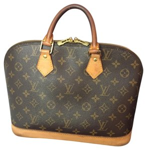 Louis Vuitton Lv Alma Pm Fashion Monogram Brown Leather Satchel in Brown Monogram