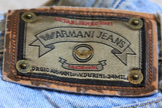 Armani Jeans Pants Bottoms Denim Boyfriend Cut Jeans-Light Wash