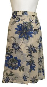 Geiger Collections Floral Skirt Beige, blue, green
