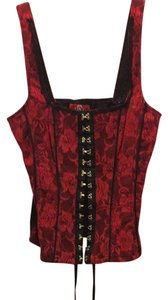 Royal Bones Top Red And Black