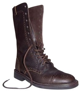 Camper Pebbled Leather Brown Boots