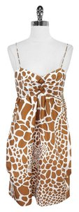 Julie Haus short dress Giraffe Print Silk on Tradesy