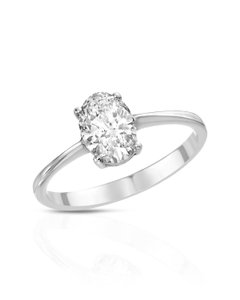 DAVIDE CURRADO 18k White Gold Solitaire Diamond Ring With 0.96ctw Size 6.5