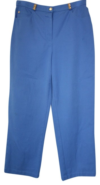 St. John Sport Stretch Jeans Straight Pants BLUE