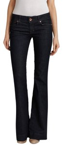 J Brand 5 Pocket Sryle * Zip Fly * * * Cotton/poly/spandex * Machine Washable * Style# 722c032 * Cut# 7072 * Low Rise Flare Leg Jeans-Dark Rinse