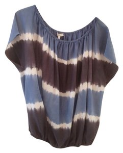 Joie Top Blue/grey/white
