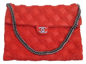 Chanel Red Flap Limited Edition Rare Shoulder Bag