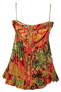 Magazine short dress red and multi on Tradesy