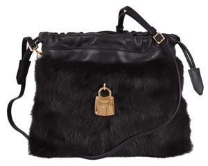 Burberry Runway Crossbody Fur Shoulder Bag