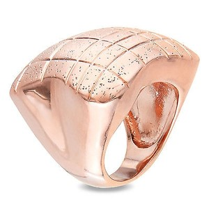 Amour Amour 18k Rose-gold Plated Cocktail Ring With Matte Sparkling Finishing