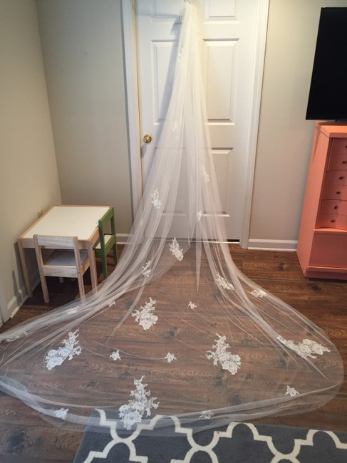 Item - Off White Long Cathedral Bridal Veil