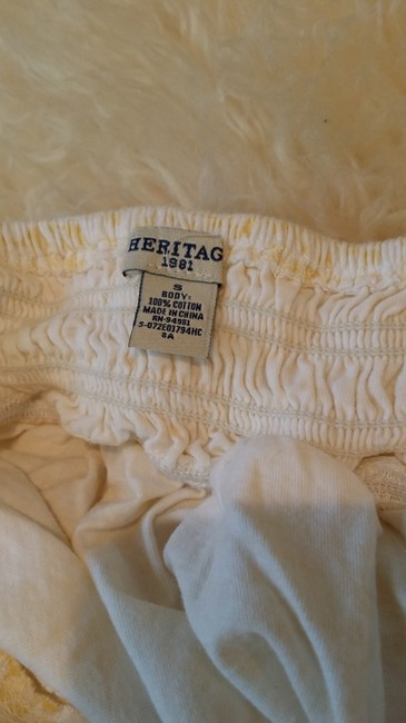 Heritage 1981 Top White and Yellow