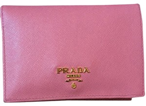 Prada Prada pink leather short wallet