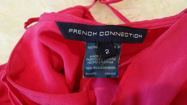 French Connection Hot Pink Halter Top