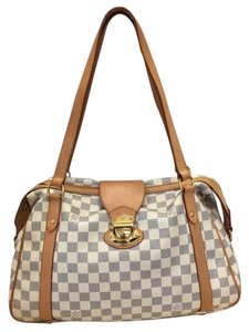 Louis Vuitton Azur Leather Hobo Dust Shoulder Bag