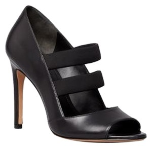 Via Spiga New Leather Stiletto Classic Black Pumps