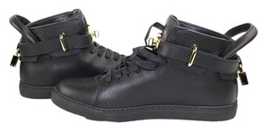 Buscemi High Top Black Gold Sneakers Athletic