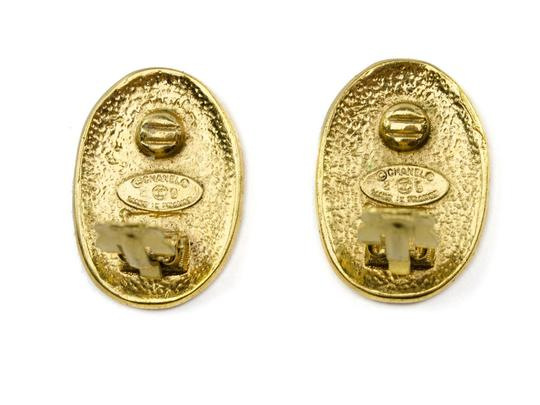 Chanel Chanel Gold Crown Clip On Earrings