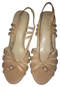 Ann Taylor Nude Wedges