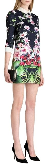 Item - Multicolor Youma Collared Mirrored Tropics Night Out Dress Size 6 (S)