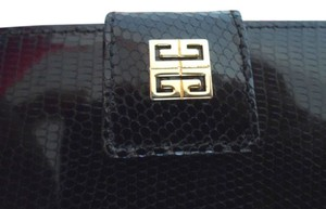 Givenchy Black Givenchy genuine lizard skin wallet