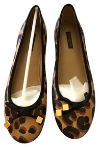 Louis Vuitton Leather Stephen Sprouse Ballerina Lv Brand New Animal Print Leopard Brown - Printed Flats