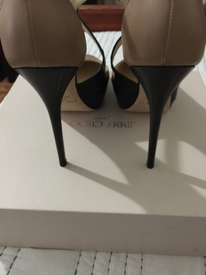 Jimmy Choo Nude and Black Pumps