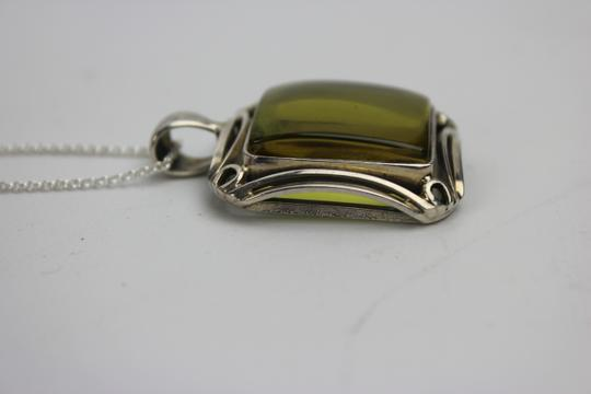 Other Russian Amber w/ Sterling Silver Necklace and Pendant RAAV1