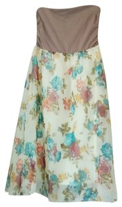 Flora and Tan Maxi Dress by