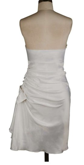 Ivory Satin Poly Strapless Bunched Bow Sexy Wedding Dress Size 20 (Plus 1x)