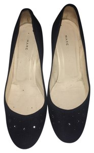 Marc Jacobs Embellished Kitten Heel Denim Blue Pumps