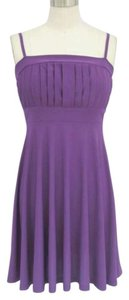 Purple Spaghetti Straps Casual Bridesmaid/Mob Dress Size 6 (S)