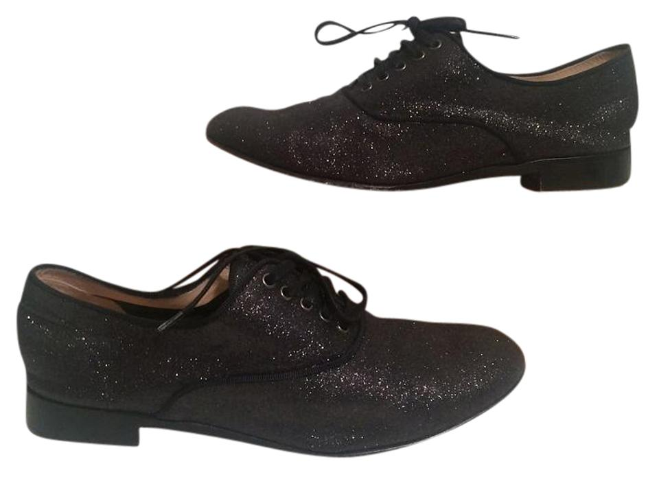 ac1a1d92deaa Christian Louboutin Charcoal Fred Glitter Oxford Loafers 37.5 - 7 Flats