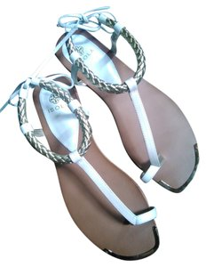 Isola Like New Summer Leather white Sandals